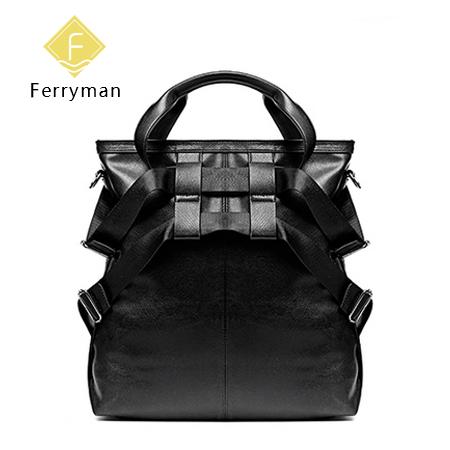 Ferryman原创设计酷黑系列YYY手拎包单肩包